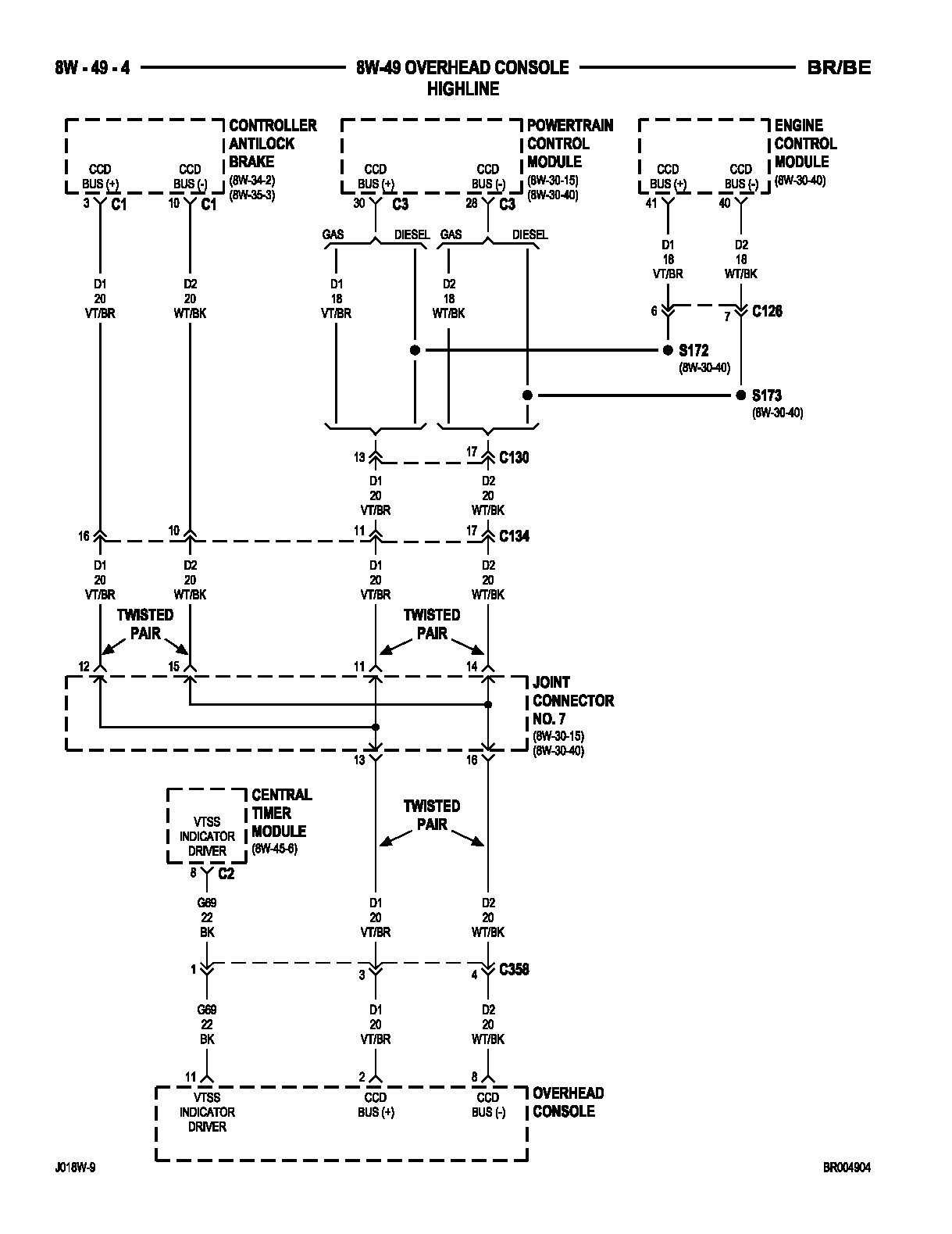 Overhead Entertainment System Wiring Diagram