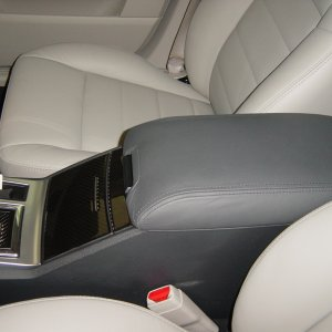 Leather Console Cover