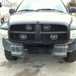 Lined The Front Bumper